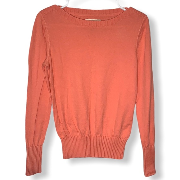 Sonoma coral boatneck crew knit sweater